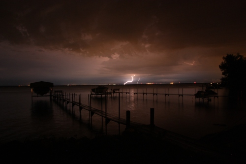 Lighting off the end of the pier