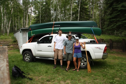 Loading the Mallek Mobile at Uncle's Cabin for some epic