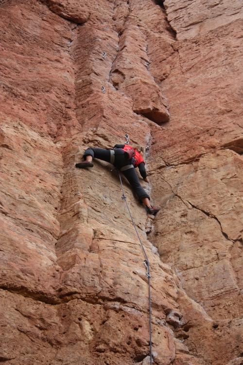 Dana enjoying some Colorado rock.  Check out www.climbcolorado.wordpress.com to follow our adventures