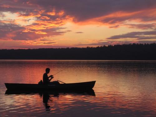 Ryan fishing into the evening