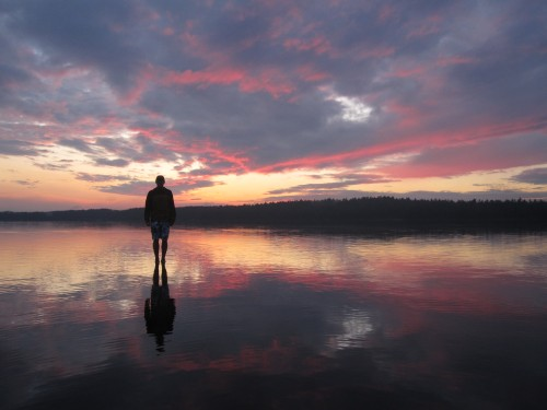 Weston walking on water
