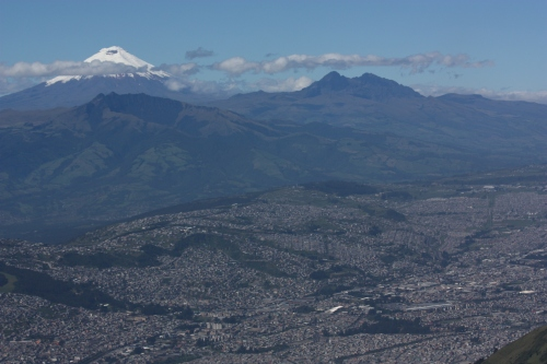 Sitting high above Quito with Cotopaxi dominating the backdrop