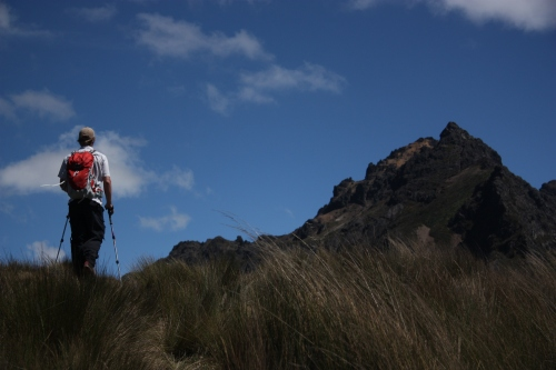 Jordan hiking towards the summit of Rucu Pichincha 15,407'