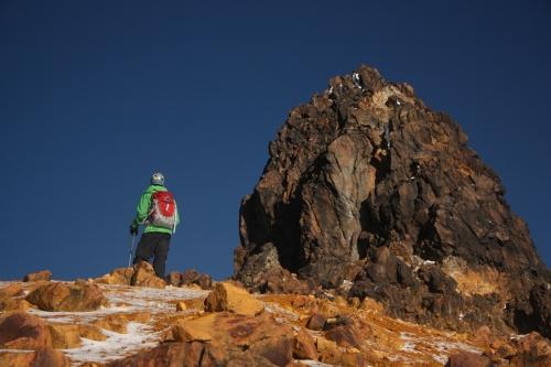Jordan inspecting the next task, el cumbre the summit