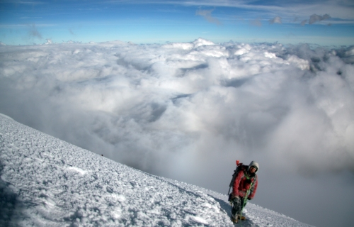 Ben high above the clouds