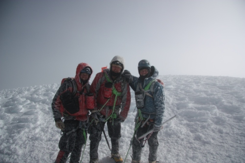 Team Cabelleros de Colorado on the summit of 19,347' Cotopaxi