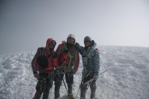 Team Cabelleros de Colorado on the summit of 19,347' Cotopaxi