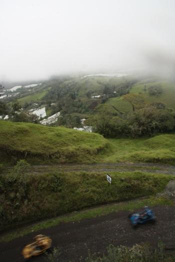 Rural back roads near Banos Ecuador