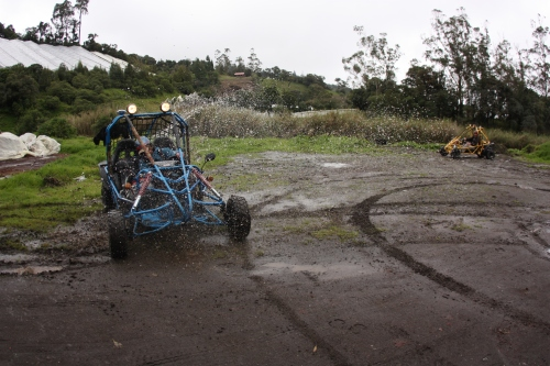 Jordan ripping donuts in the Blue Beast Buggy