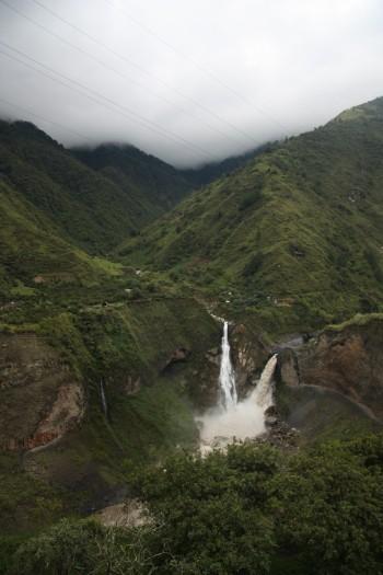 Huge waterfalls in rural Ecuador