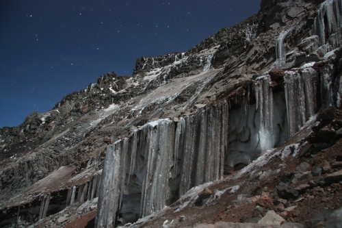 "Ice falls in ""El Corridor"""