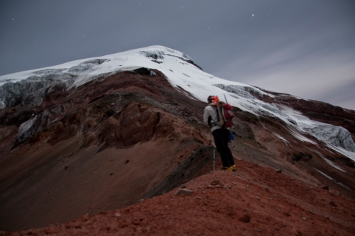 """A 60 second exposure on the saddle between the glacier and """"El Corridor"""""""