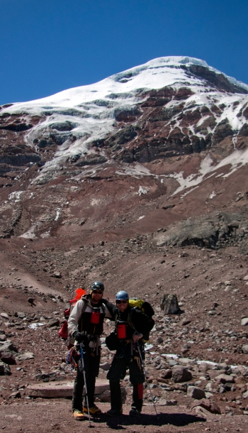 Ben and Weston after climbing 20,730' Chimborazo of Ecuador